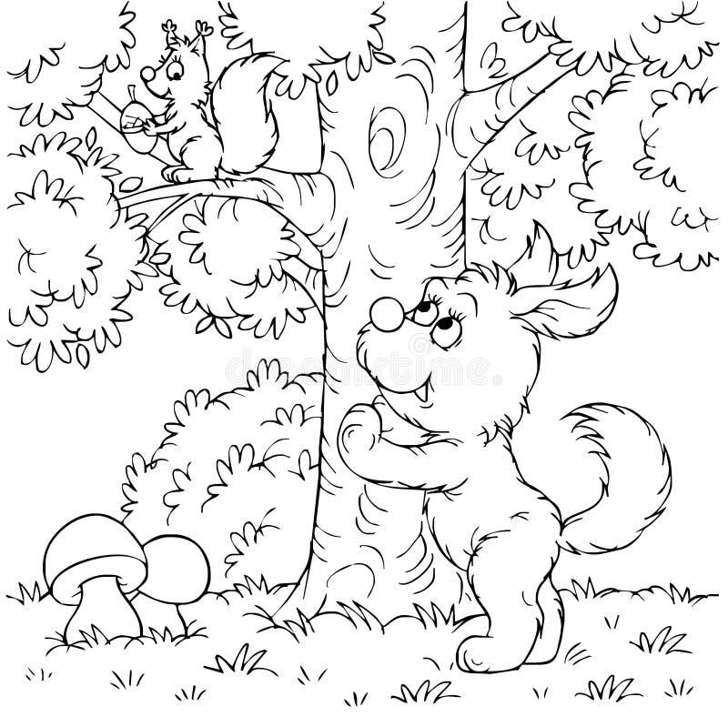 σκίουρος σκυλιών ελεύθερη απεικόνιση δικαιώματος