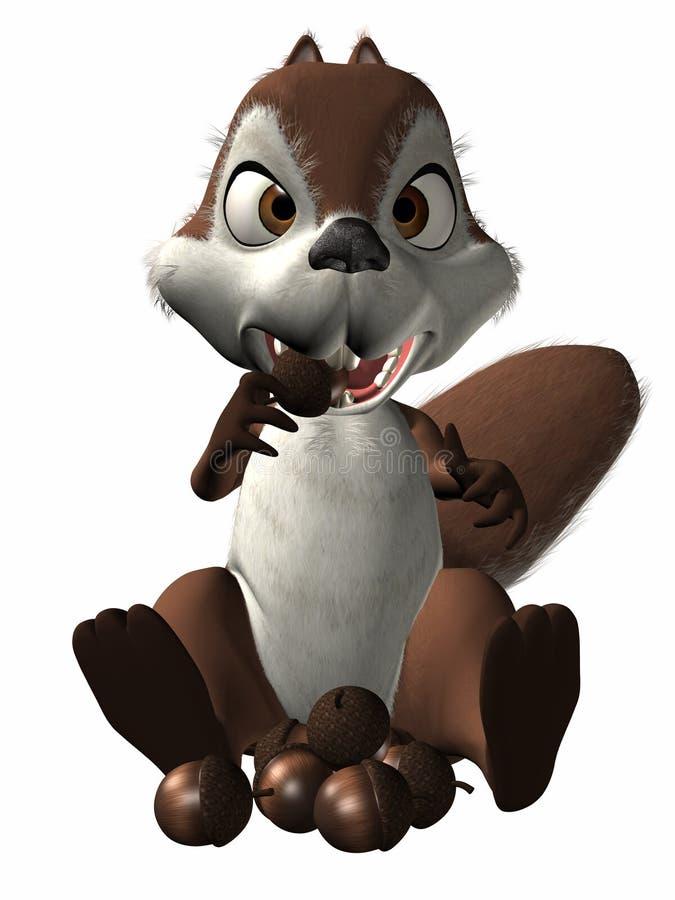 σκίουρος Toon ελεύθερη απεικόνιση δικαιώματος