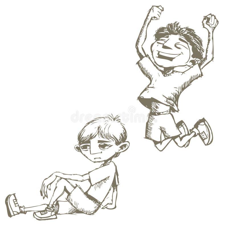σκίτσα αγοριών στοκ φωτογραφία με δικαίωμα ελεύθερης χρήσης