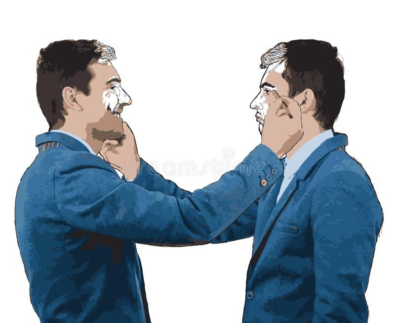 Σκίτσο έκφρασης αυτοπροσωπογραφίας ελεύθερη απεικόνιση δικαιώματος