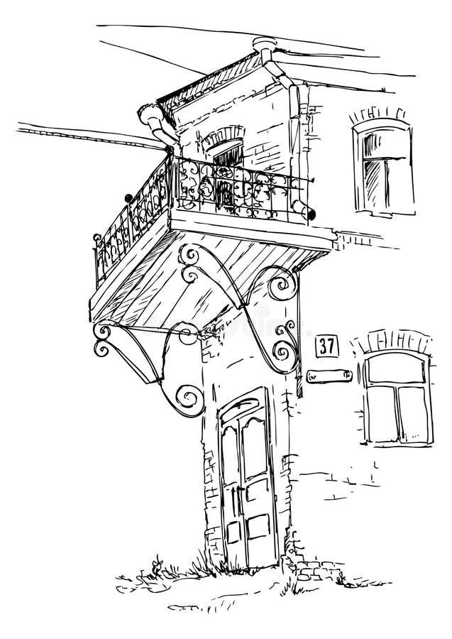 σκίτσο αστικό διανυσματική απεικόνιση
