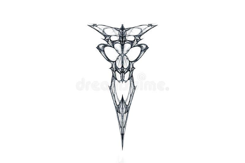 Σκίτσο ενός κρανίου τεράτων ` s με μια κορώνα, που λαμβάνεται από fractal ελεύθερη απεικόνιση δικαιώματος