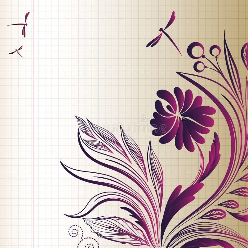 σκίτσο λουλουδιών ανα&sig απεικόνιση αποθεμάτων