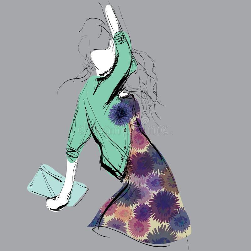Σκίτσο μόδας διανυσματική απεικόνιση
