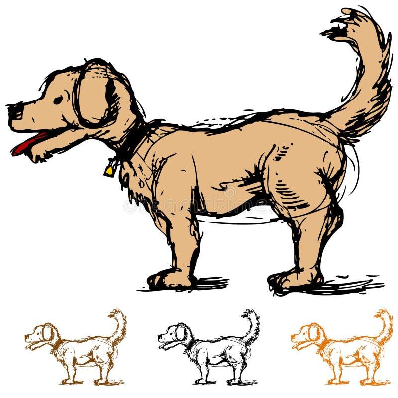 σκίτσο σκυλιών διανυσματική απεικόνιση