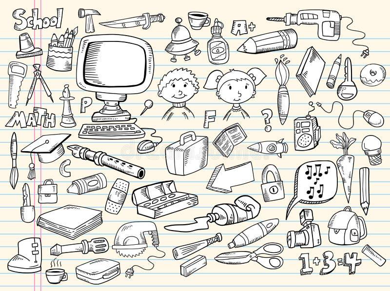 σκίτσο στοιχείων σχεδίο& διανυσματική απεικόνιση