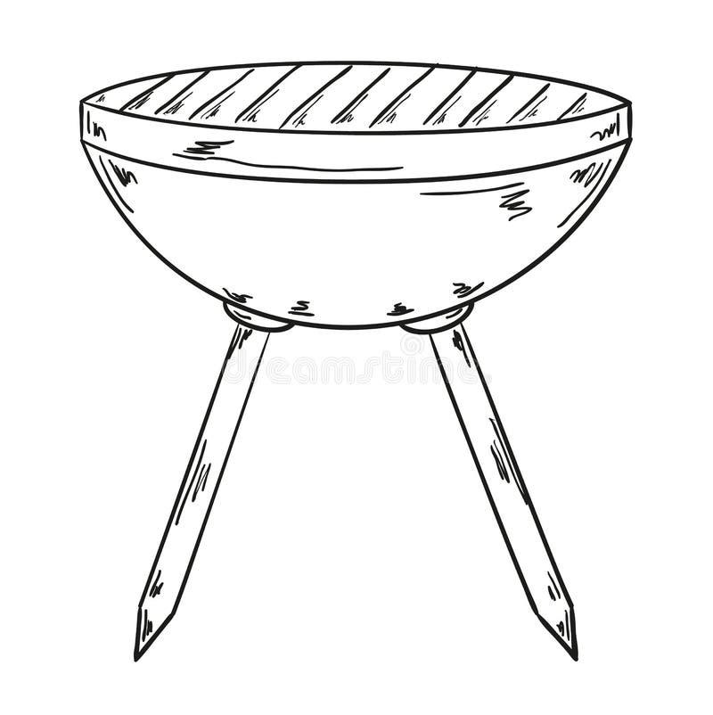 Σκίτσο της σχάρας απεικόνιση αποθεμάτων