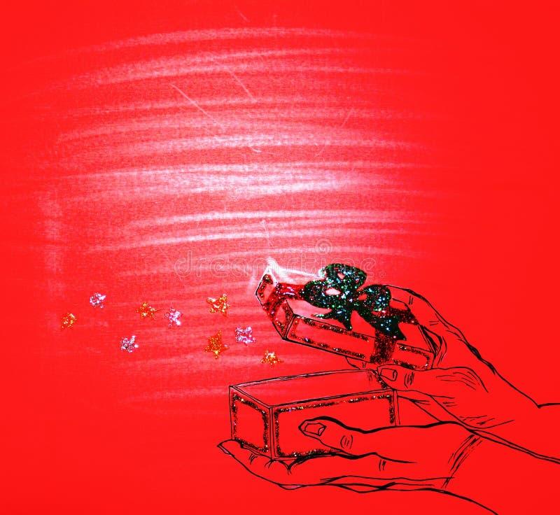 Σκίτσο του μαγικού κιβωτίου στοκ φωτογραφία