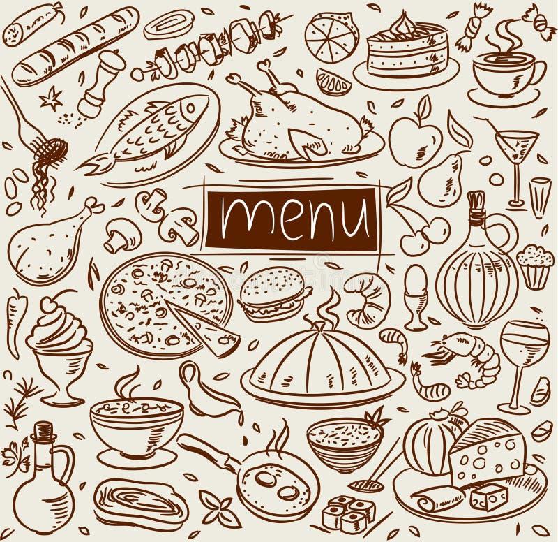 σκίτσο τροφίμων απεικόνιση αποθεμάτων