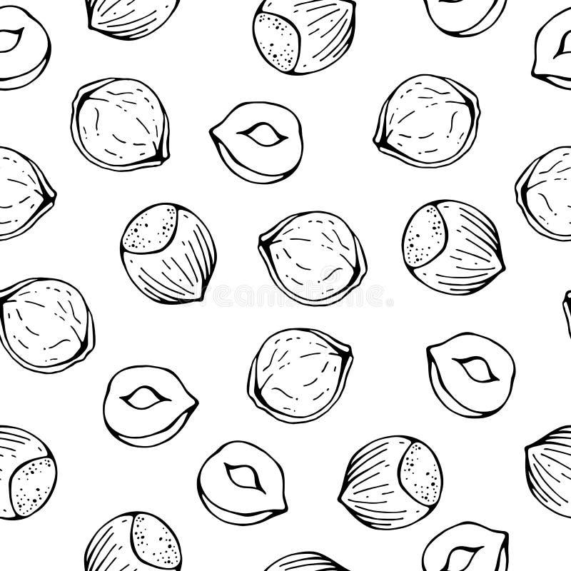 Σκίτσο φουντουκιών σχεδίων απεικόνιση αποθεμάτων