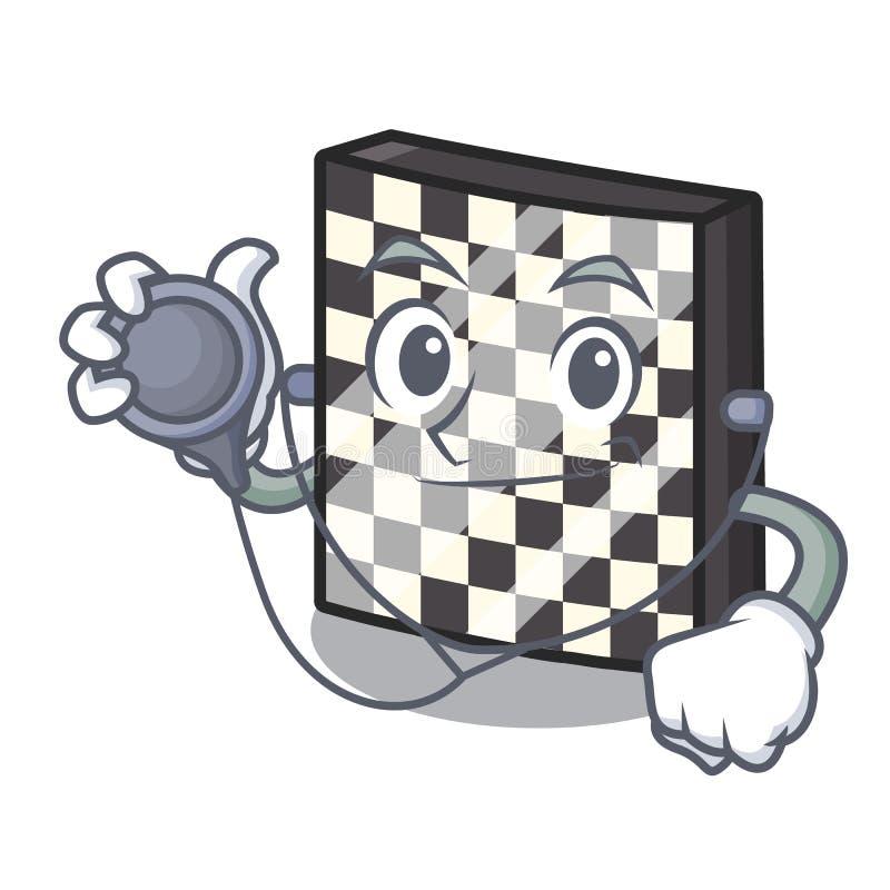 Σκακιέρα γιατρών με σε μια μασκότ διανυσματική απεικόνιση