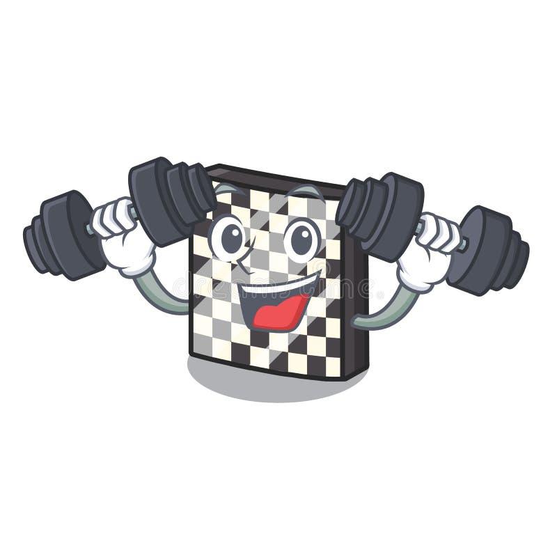 Σκακιέρα ικανότητας με σε μια μασκότ ελεύθερη απεικόνιση δικαιώματος