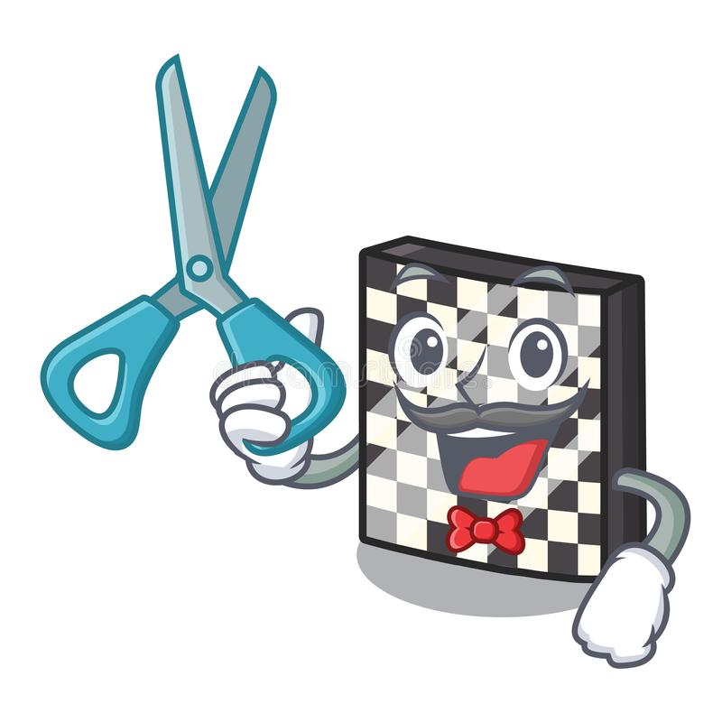 Σκακιέρα κουρέων με σε μια μασκότ διανυσματική απεικόνιση