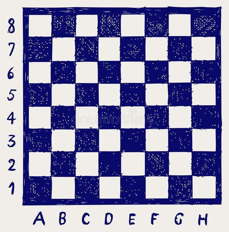 Σκακιέρα με τις επιστολές και τους αριθμούς διανυσματική απεικόνιση