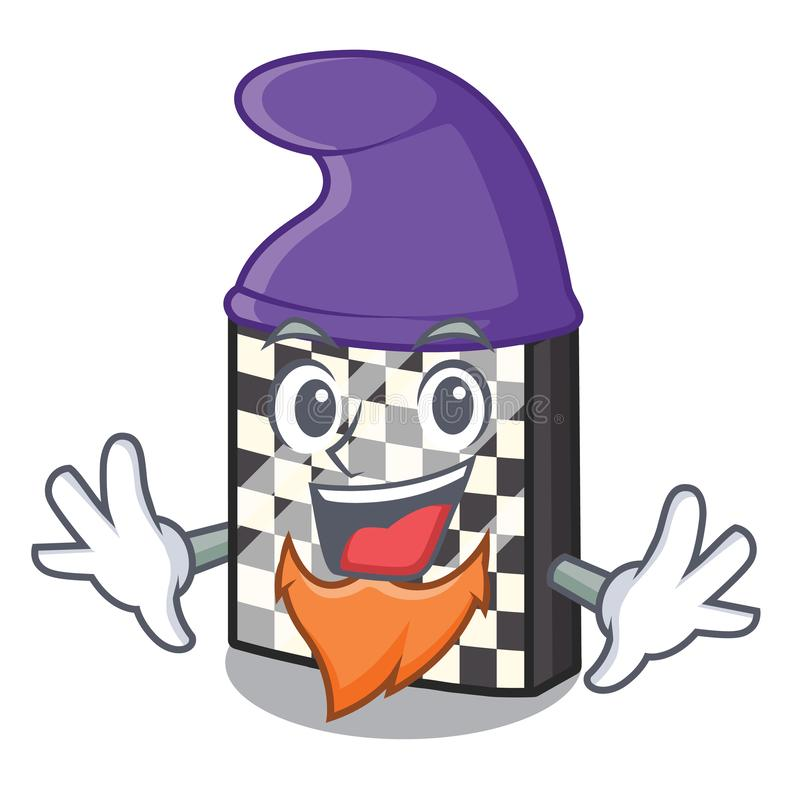 Σκακιέρα νεραιδών με σε μια μασκότ διανυσματική απεικόνιση