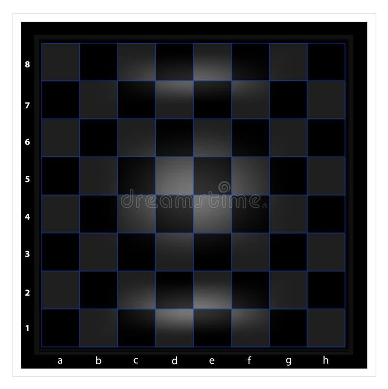 Σκακιέρα νύχτας με το μπλε πλέγμα ελεύθερη απεικόνιση δικαιώματος