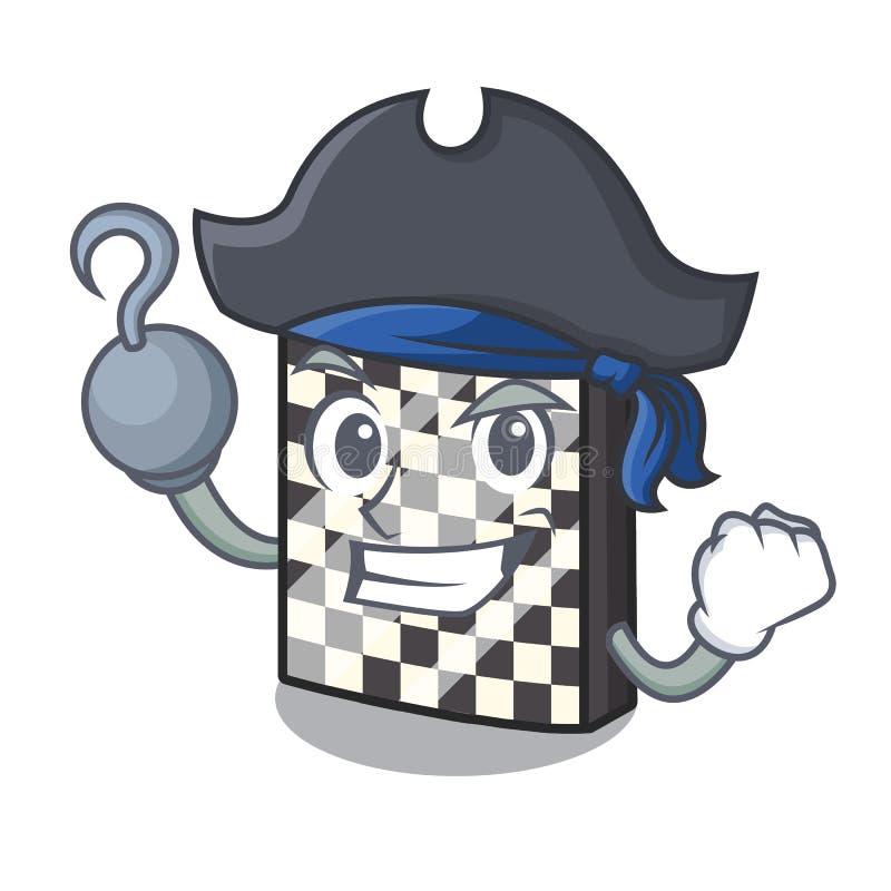 Σκακιέρα πειρατών με σε μια μασκότ απεικόνιση αποθεμάτων