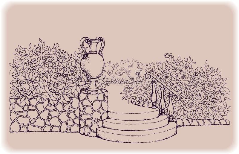 σκαλοπάτια πάρκων διανυσματική απεικόνιση