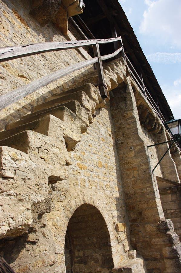 σκαλοπάτια πόλεων rothenburg στο&n στοκ εικόνες