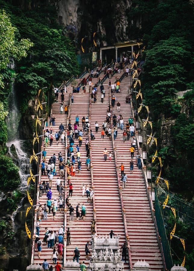 Σκαλοπάτια στις σπηλιές Batu, Κουάλα Λουμπούρ στοκ εικόνες με δικαίωμα ελεύθερης χρήσης