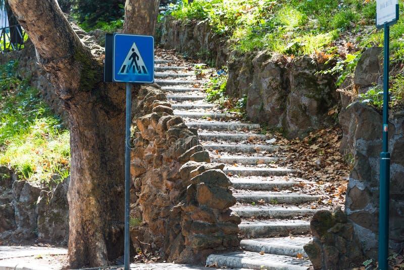Σκαλοπάτια στον περίπατο Janiculum στοκ εικόνες