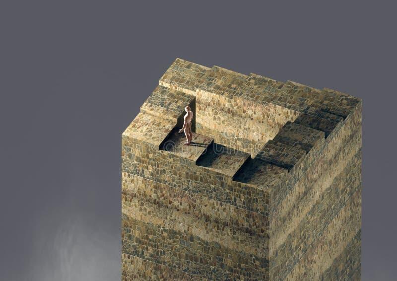 Σκαλοπάτια Penrose ελεύθερη απεικόνιση δικαιώματος
