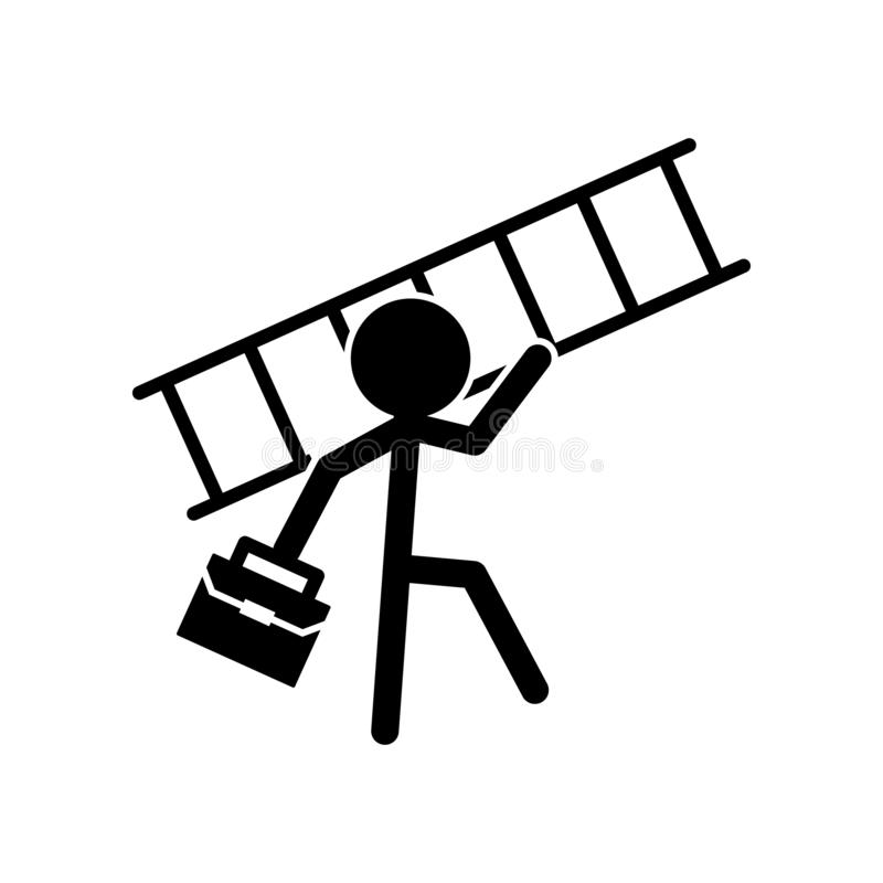 Σκαλοπάτι, επιτυχία, στόχος, εικονίδιο πορτών Μπορέστε να χρησιμοποιηθείτε για τον Ιστό, λογότυπο, κινητό app, UI, UX ελεύθερη απεικόνιση δικαιώματος