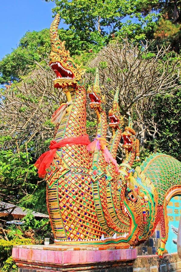Σκαλοπάτι Naga σε Wat Phra που Doi Suthep, Chiang Mai, Ταϊλάνδη στοκ φωτογραφίες με δικαίωμα ελεύθερης χρήσης