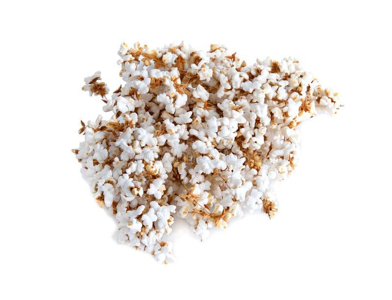 Σκαμένο το ανθοδέσμη ρύζι απομονώνει στο άσπρο υπόβαθρο στοκ εικόνες
