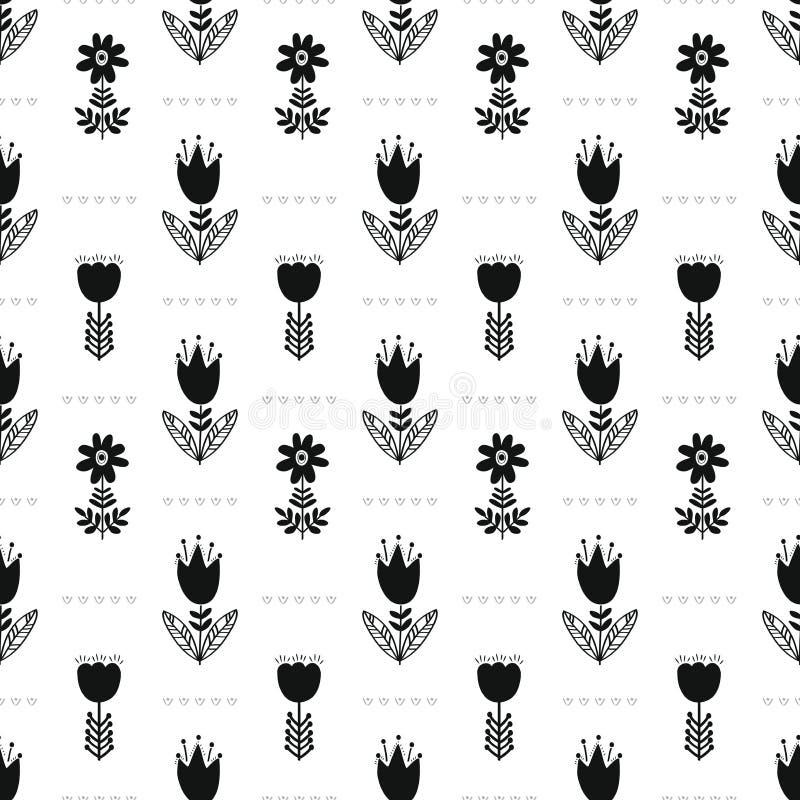 Σκανδιναβικό λαϊκό άνευ ραφής σχέδιο επιφάνειας ethno απεικόνιση αποθεμάτων