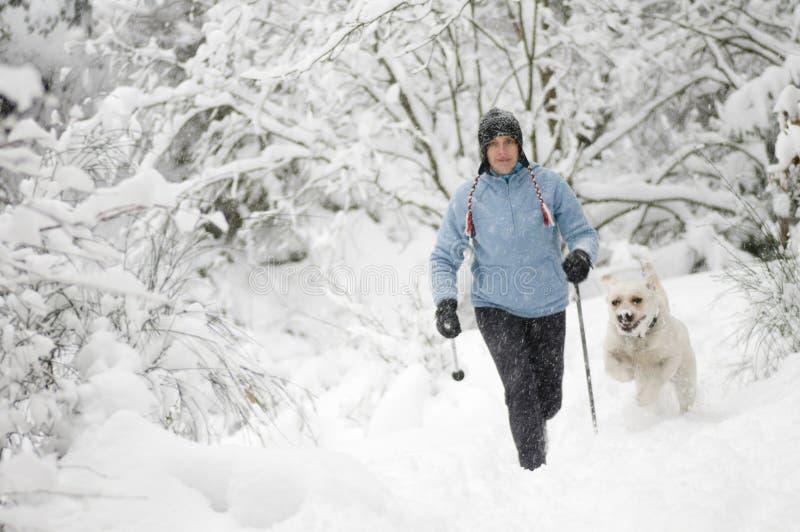 σκανδιναβικό περπάτημα σκ& στοκ φωτογραφία με δικαίωμα ελεύθερης χρήσης