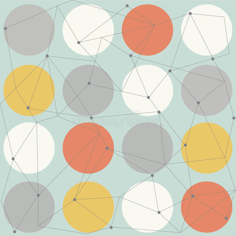 Σκανδιναβικό γεωμετρικό σύγχρονο άνευ ραφής σχέδιο διανυσματική απεικόνιση