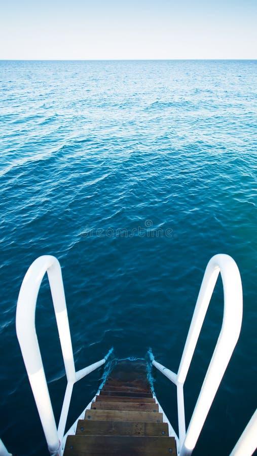 σκαλοπάτια θάλασσας στοκ φωτογραφίες