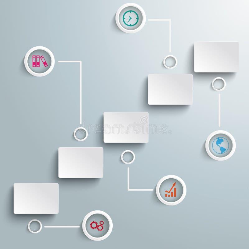 Σκαλοπάτια με τα ορθογώνια Infographic PiAd απεικόνιση αποθεμάτων