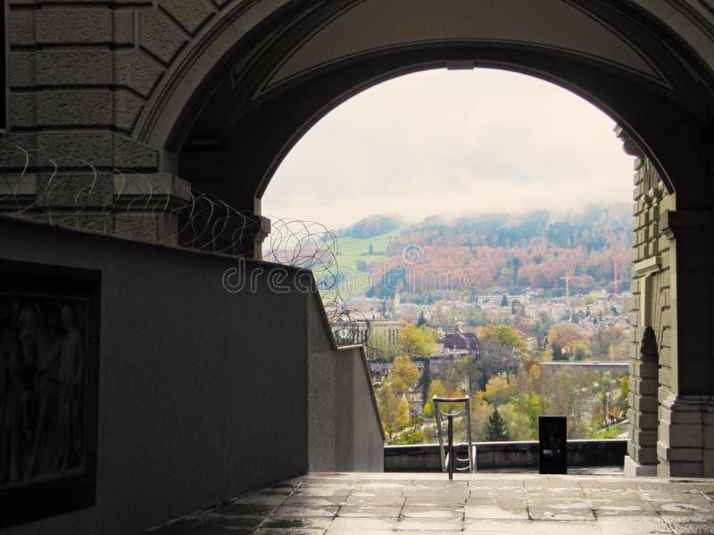 Σκαλοπάτια σε μια άποψη στοκ φωτογραφίες με δικαίωμα ελεύθερης χρήσης