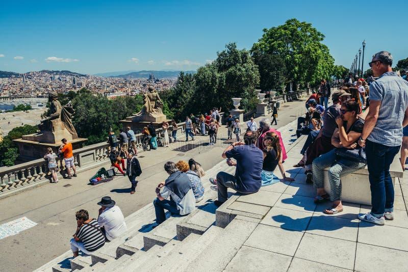 Σκαλοπάτια στη Βαρκελώνη στοκ φωτογραφίες