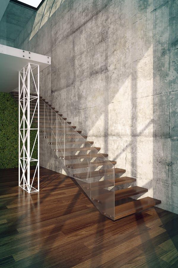 Σκαλοπάτια στο εσωτερικό καθιστικών στοκ εικόνα