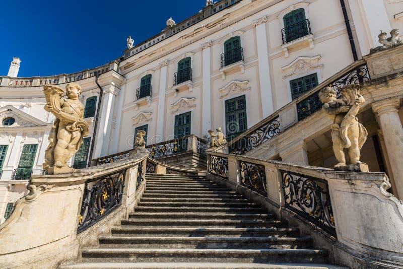 Σκαλοπάτια στο παλάτι Esterhazy στοκ φωτογραφία με δικαίωμα ελεύθερης χρήσης