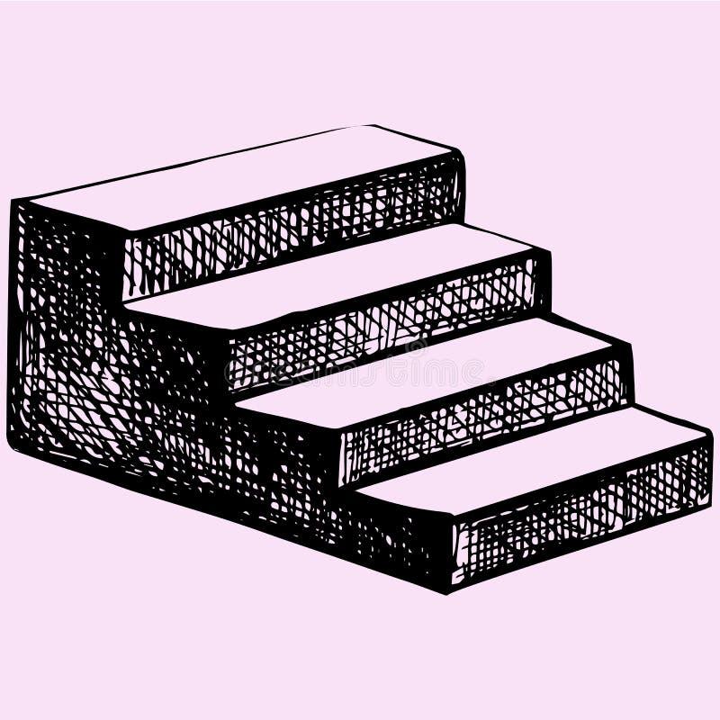Σκαλοπάτια ελεύθερη απεικόνιση δικαιώματος