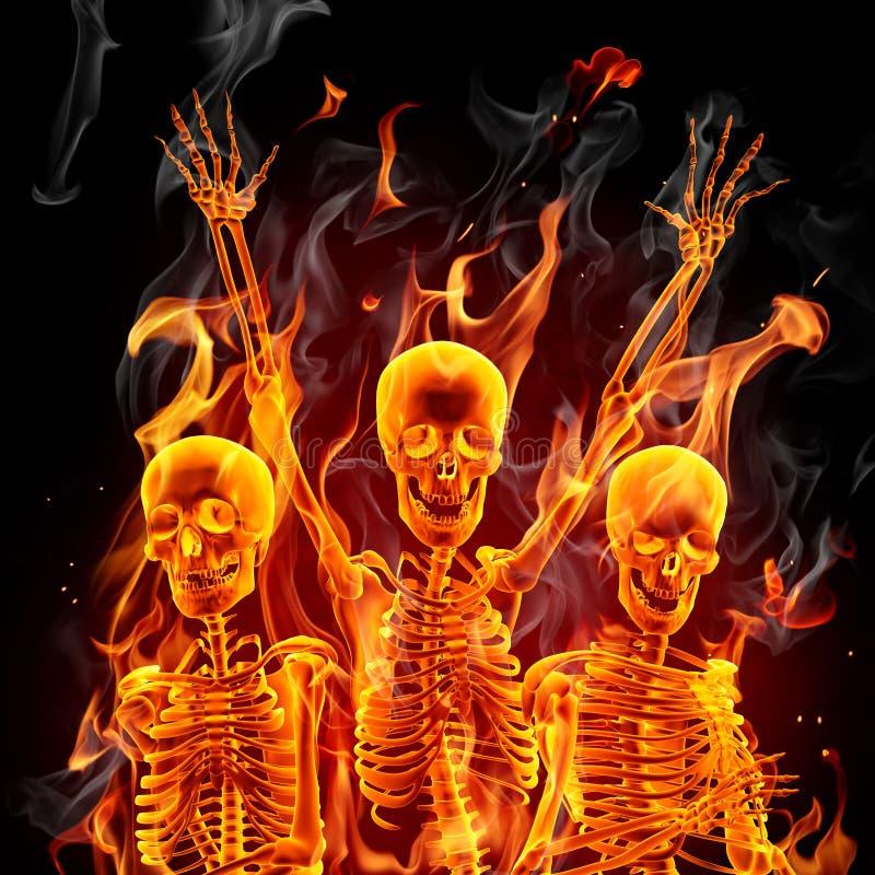 σκελετοί πυρκαγιάς ελεύθερη απεικόνιση δικαιώματος
