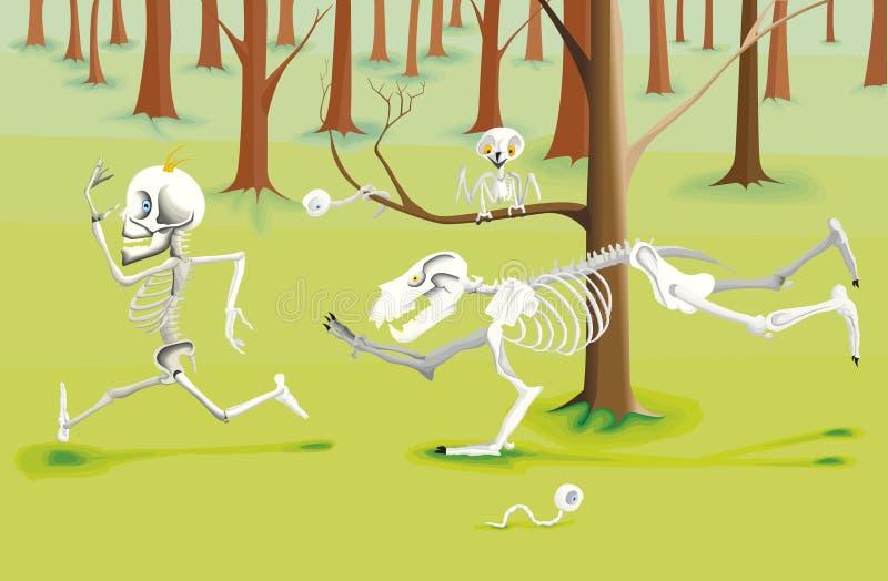 Σκελετός ατόμων που τρέχει στη διαφυγή απεικόνιση αποθεμάτων