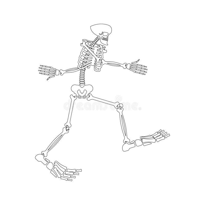 Σκελετός Yeti Μεγάλο κόκκαλο ποδιών Κρανίο και κόκκαλα Bigfoot Αποτρόπαιος χιονάνθρωπος sasquatch απεικόνιση αποθεμάτων