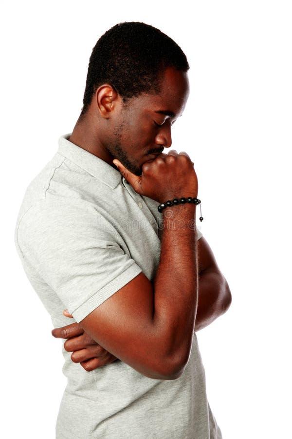 Σκεπτικός Αφρικανός στοκ εικόνες με δικαίωμα ελεύθερης χρήσης