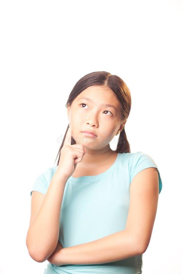 Σκεπτικό κορίτσι στοκ φωτογραφία με δικαίωμα ελεύθερης χρήσης