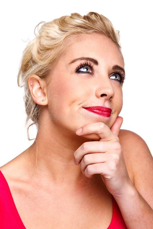 σκεπτόμενη γυναίκα ερώτη&sigma στοκ εικόνα με δικαίωμα ελεύθερης χρήσης