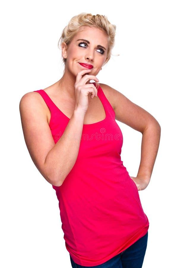 Download σκεπτόμενη γυναίκα ερώτη&sigma Στοκ Εικόνα - εικόνα από δροσίστε, μόνο: 17051883