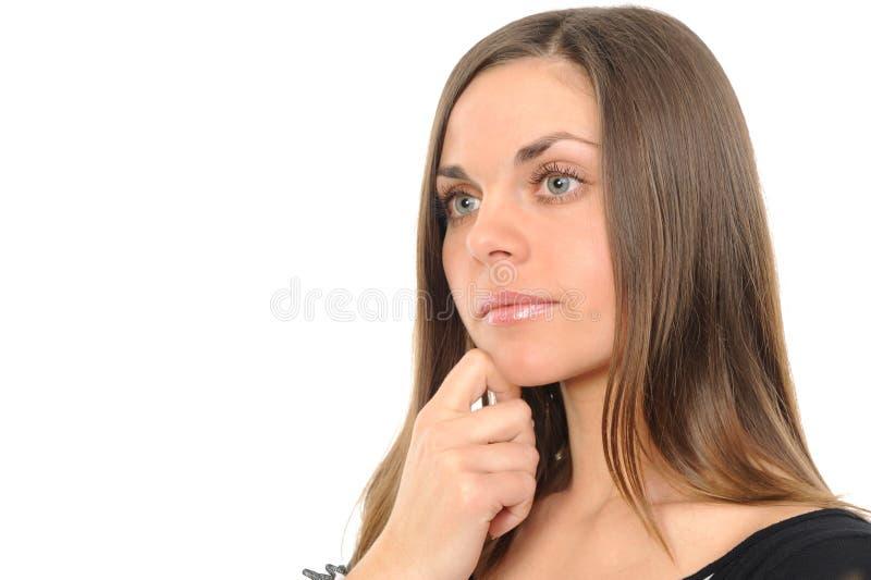 σκεπτόμενη γυναίκα στοκ εικόνες