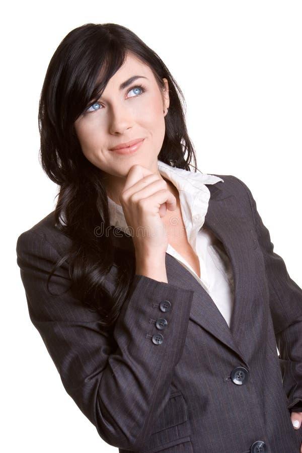 σκεπτόμενη γυναίκα στοκ εικόνα