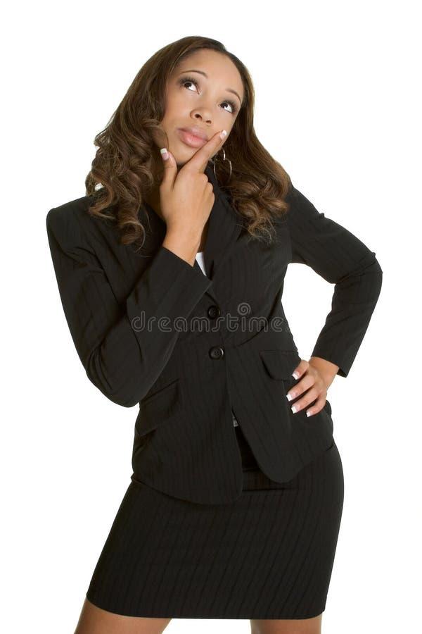 σκεπτόμενη γυναίκα στοκ φωτογραφία