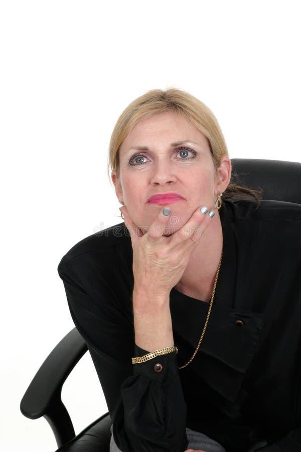 σκεπτόμενη γυναίκα 5 ανώτατ στοκ φωτογραφίες